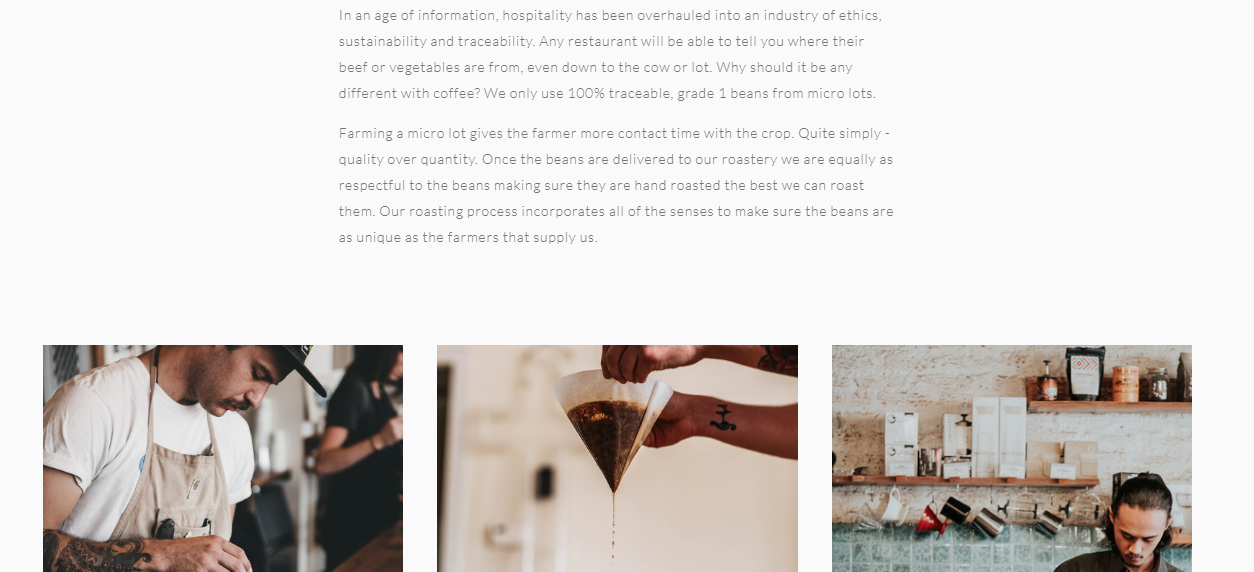 Department of Coffee and Social Affairs about coffee page