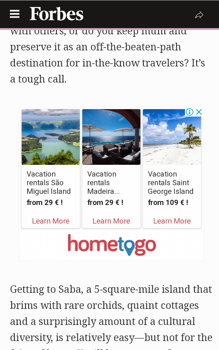 Forbes mobile friendly ads