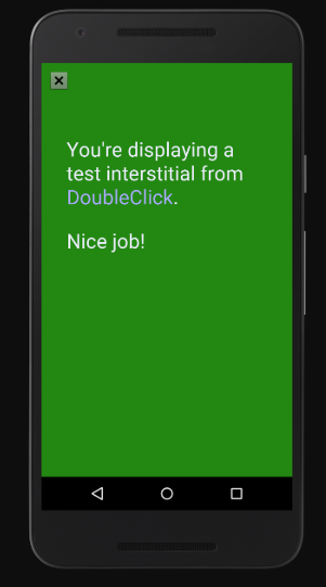 Interstitial Ad Style from Google Developers