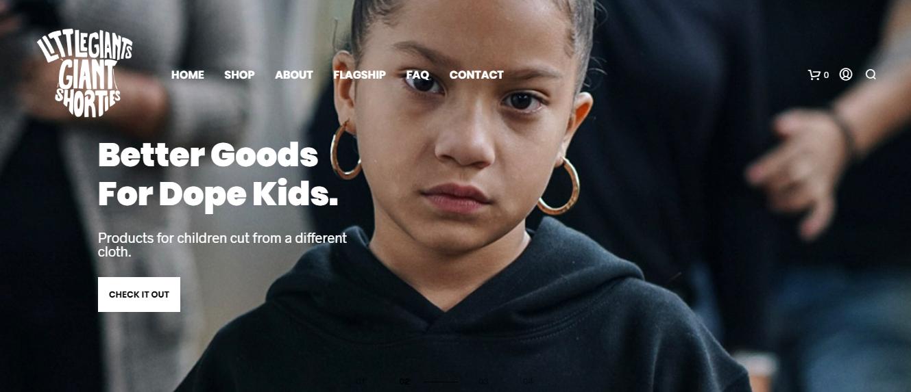 Little Giants ecommerce website