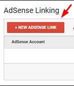 New Adsense Link button - Google Analytics