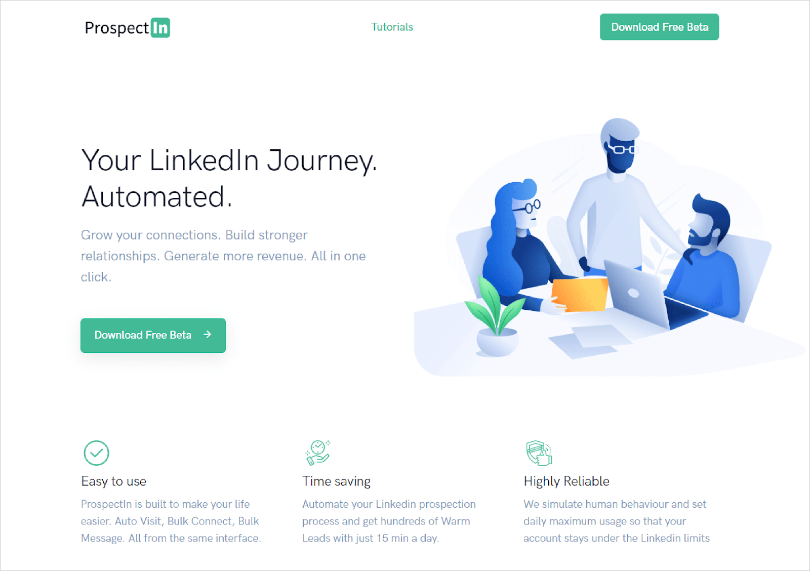 ProspectIn - a Chrome-Based Extension to Automate Your LinkedIn Journey