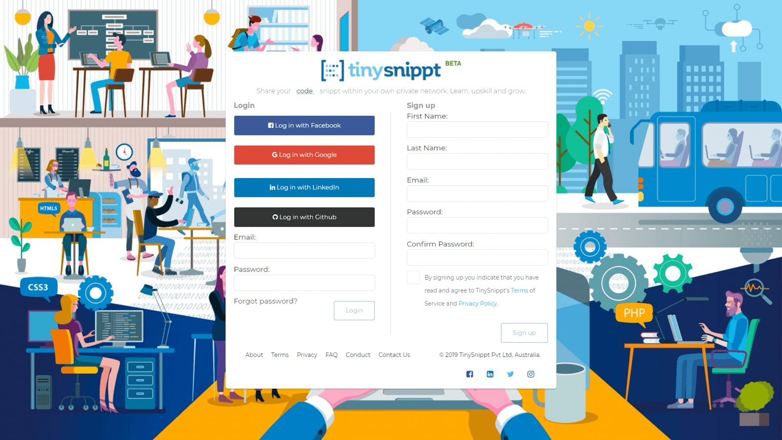 TinySnippt - a Social Coding Communities Platform