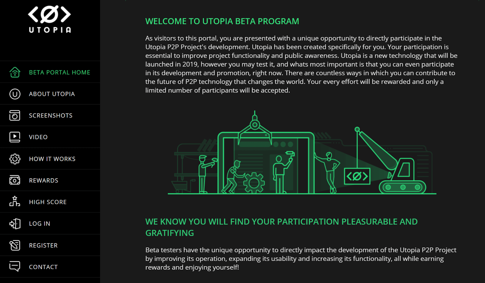 Utopia Beta Program - a P2P Communication and Transactions Ecosystem