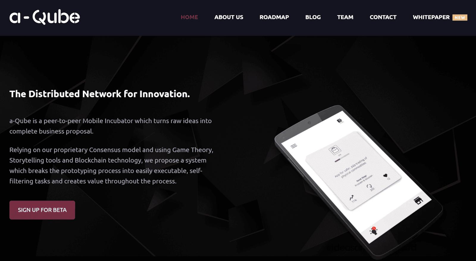 a-Qube - a P2P Marketplace for Business Ideas