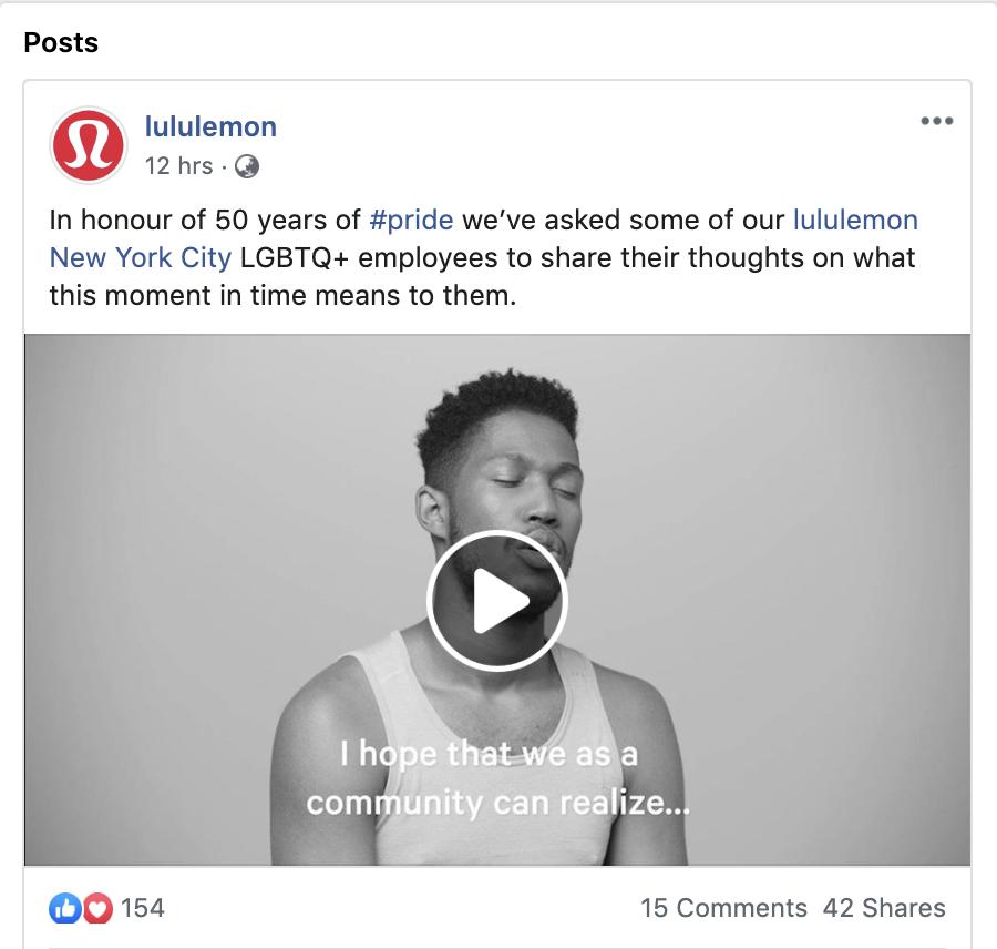 lululemon pride related video