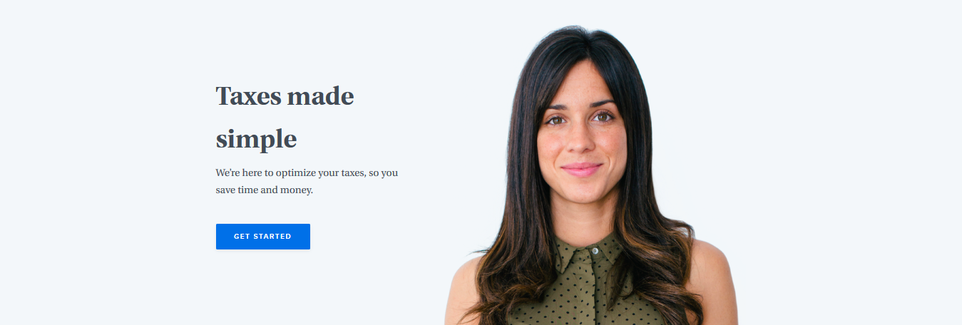 amplifying emotions on saas landing page with an image of human expression