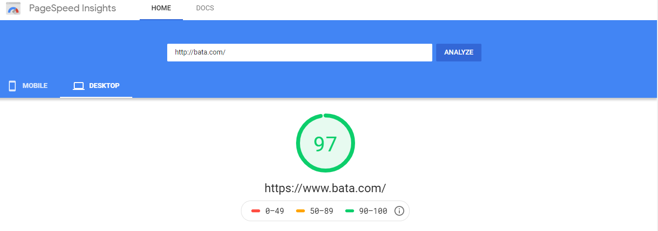 measuring page speed with google pagespeed insights