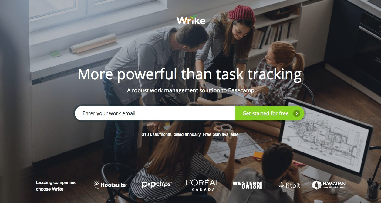 powerful call to action amplified by people images on a saas landing page