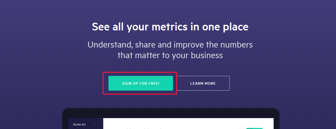 requesting email information for signing up on a saas landing page