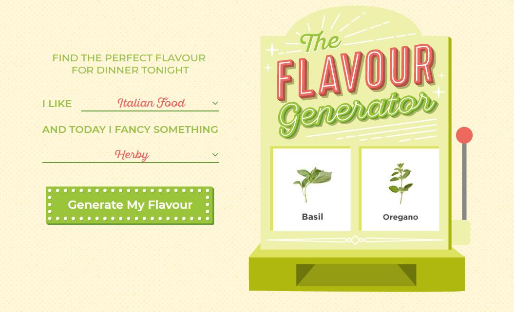 the flavor generator