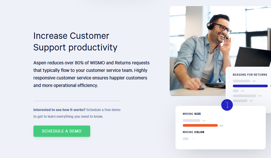 using photos of people to describe a situation on a saas landing page