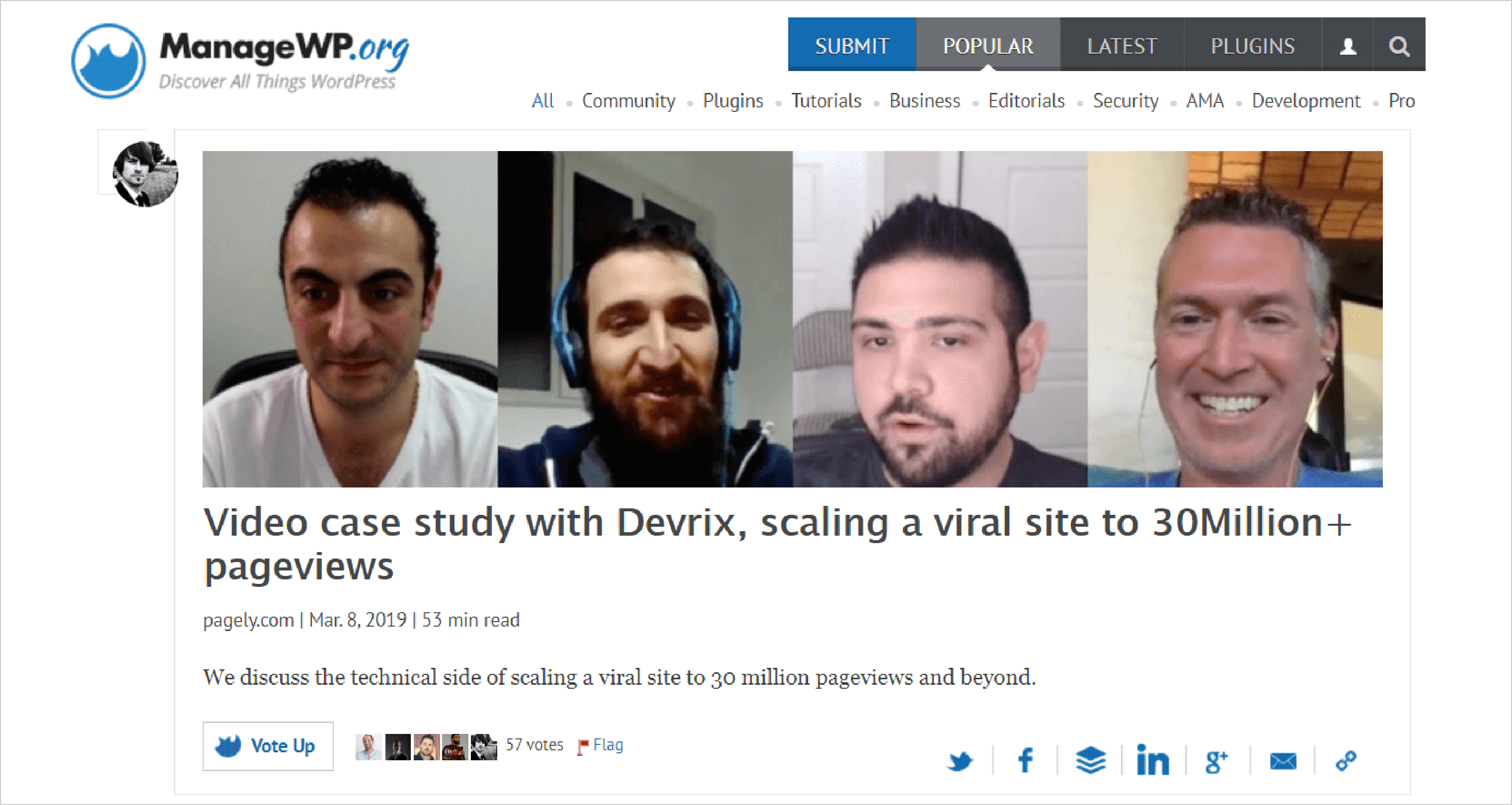 Video case study with Devrix, scaling a viral site to 30Million+ pageviews