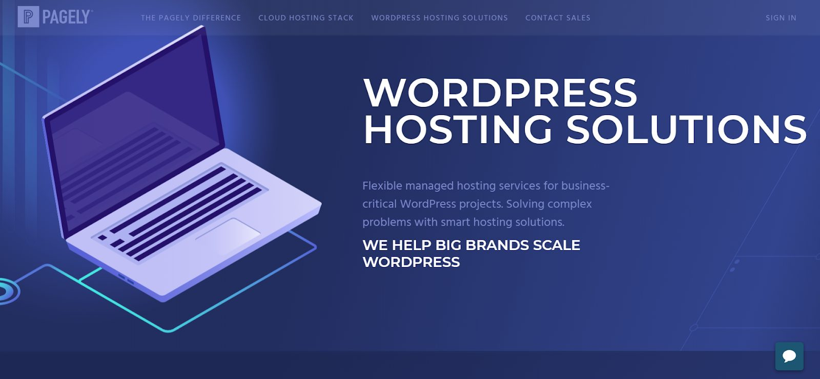 Pagely WordPress hosting solutions page