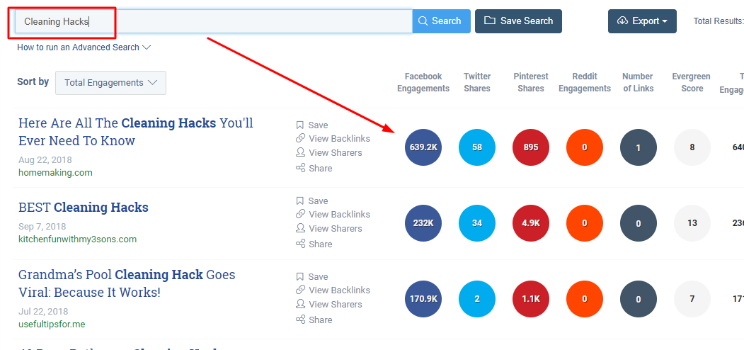 using BuzzSumo to analyze a shareable topic