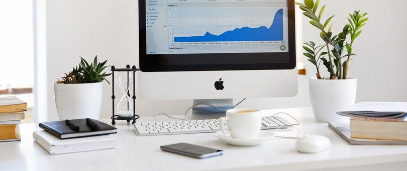 analytics shown on apple monitor