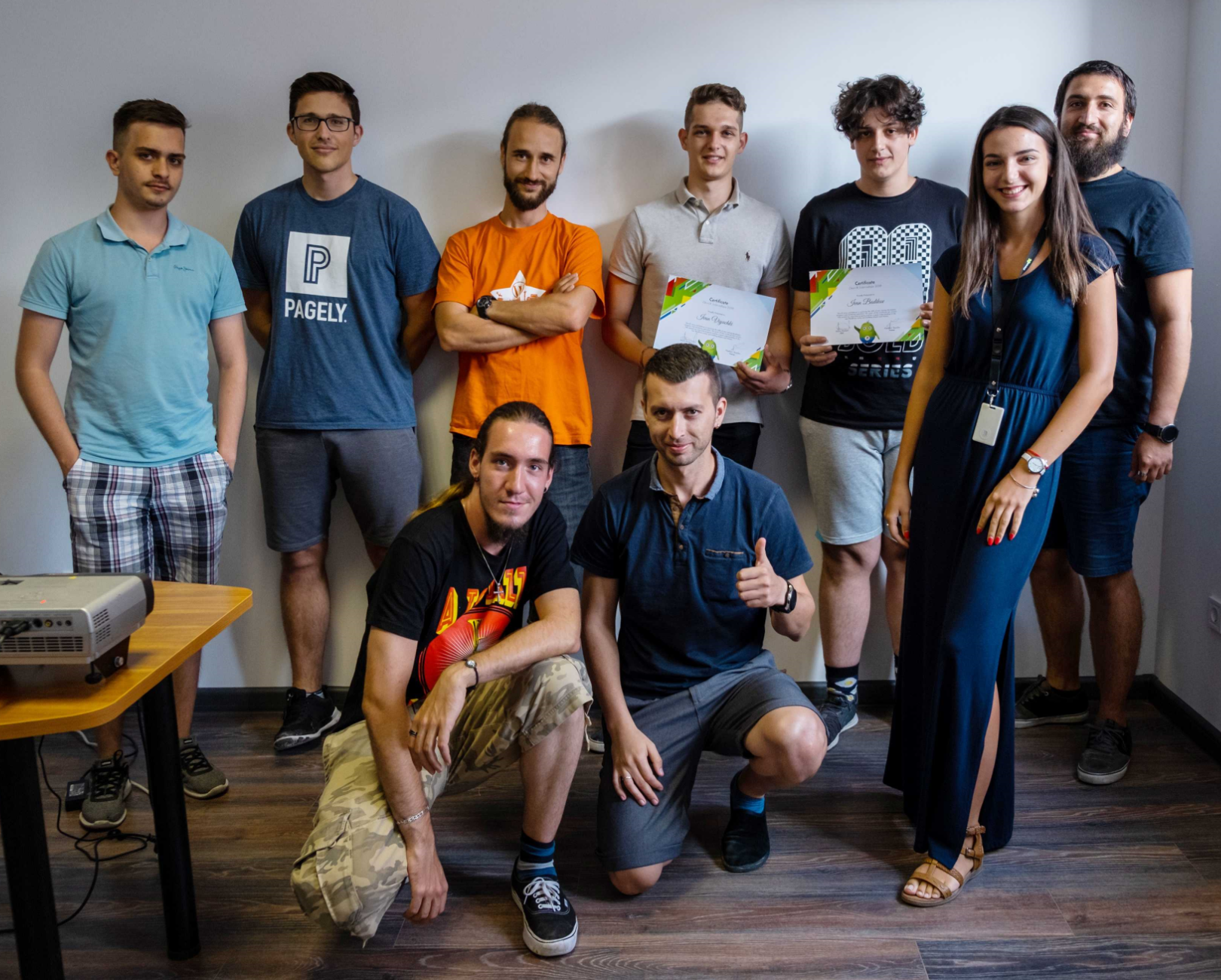 DevriX honoring interns with certificates