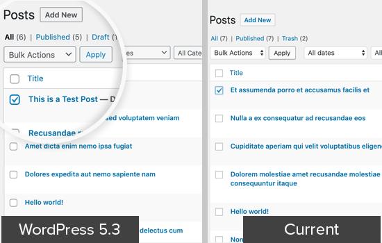 Admin UI WordPress 5.3