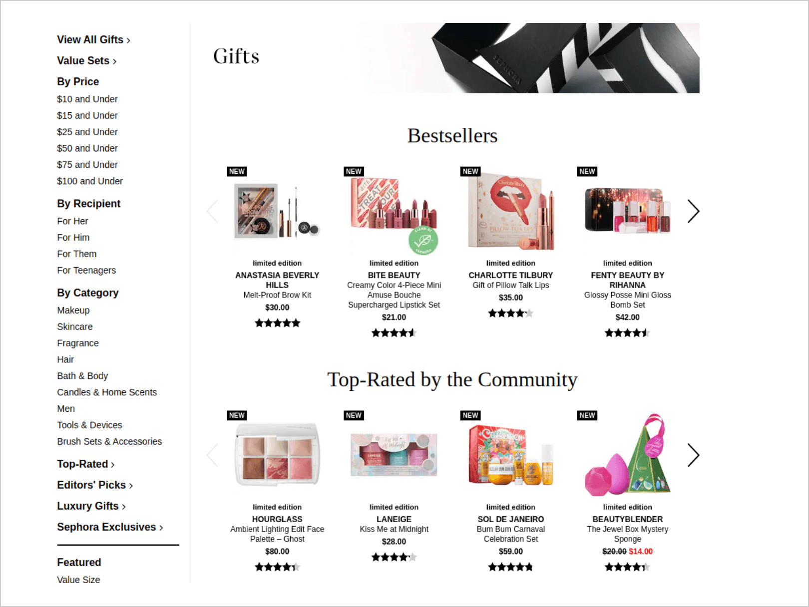 Bestsellers and top-rated products