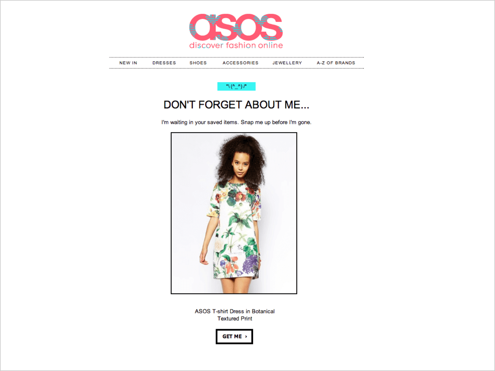 asos email marketing campaign