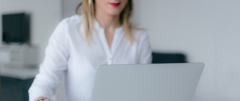 female entrepreneur using a laptop