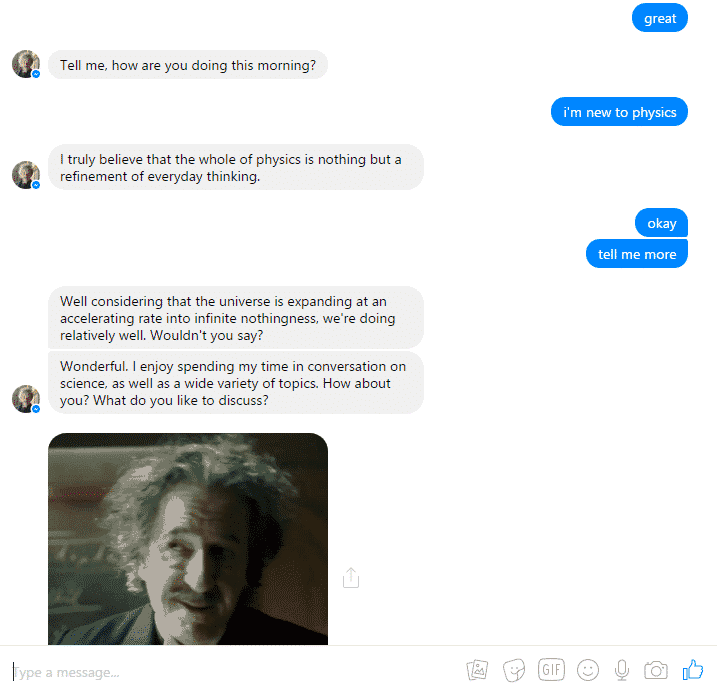 National Geographic chatbot