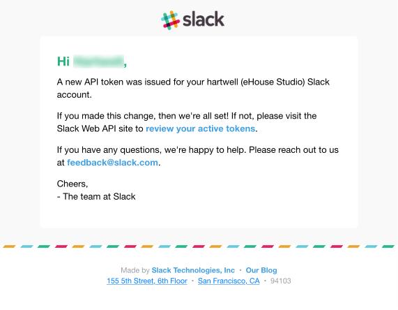 Slack customer satisfaction email