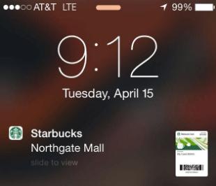 Starbucks mobile app notification
