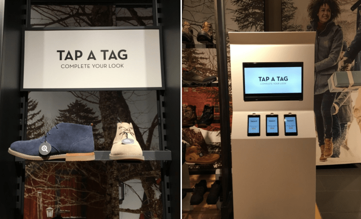 Timberland in-store omnichannel experience