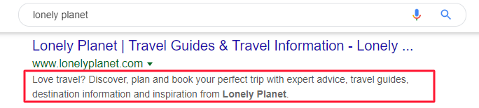 lonely planet meta description