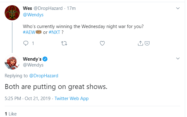 wendys reply