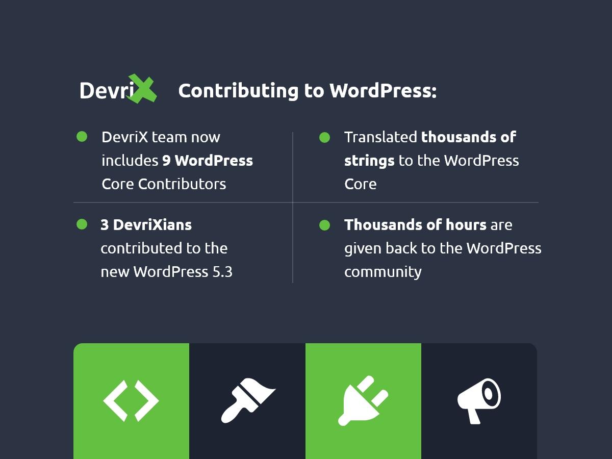 DevriX Contributing to WordPress in 2019