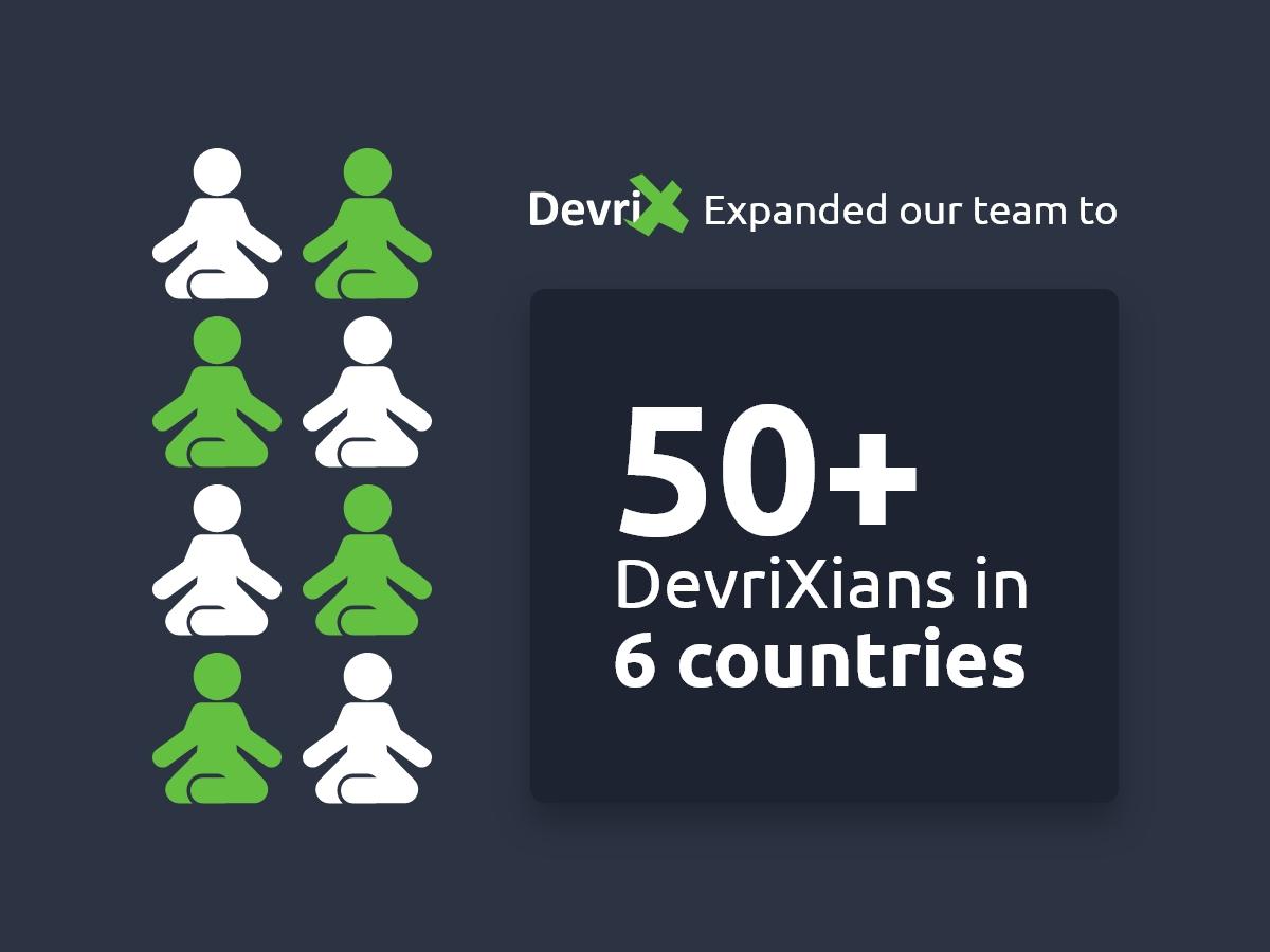 Over 50 DevriX Team Members in 2019