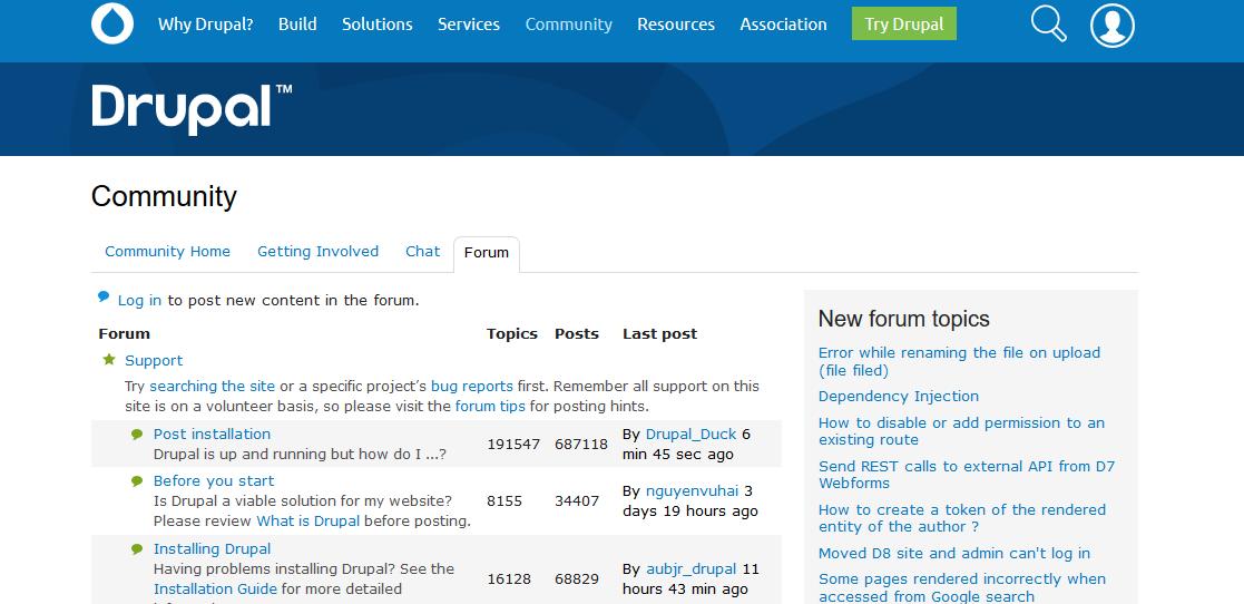 Forums Drupal org