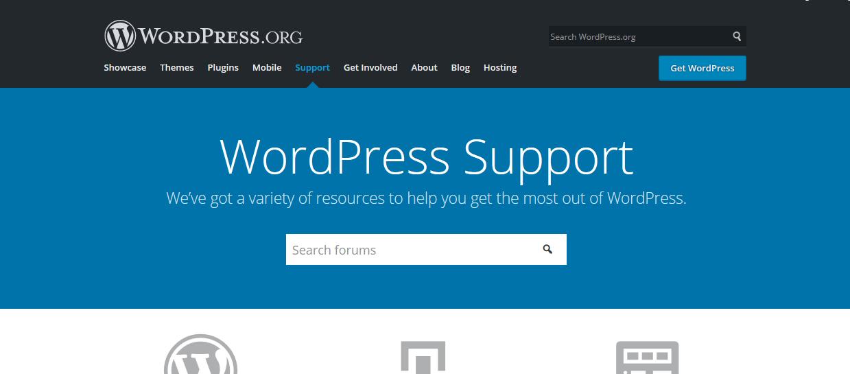 Support WordPress org