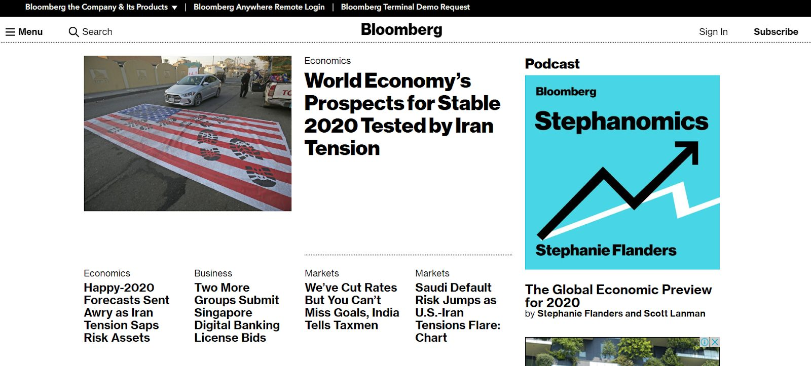 bloomberg homepage