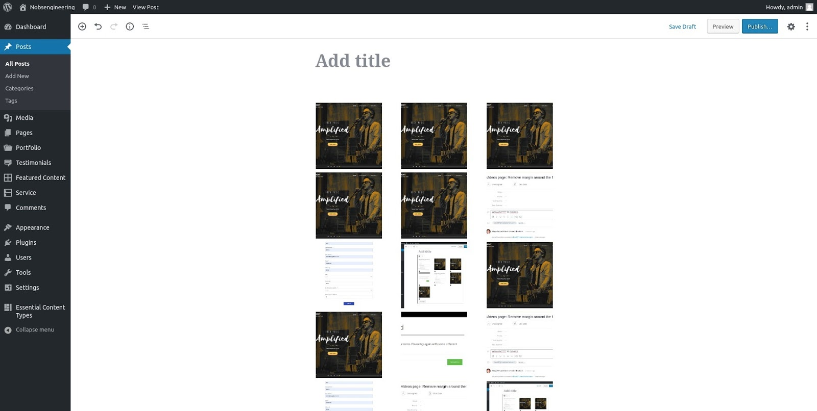 EIG Gutenberg block - easy image gallery plugin