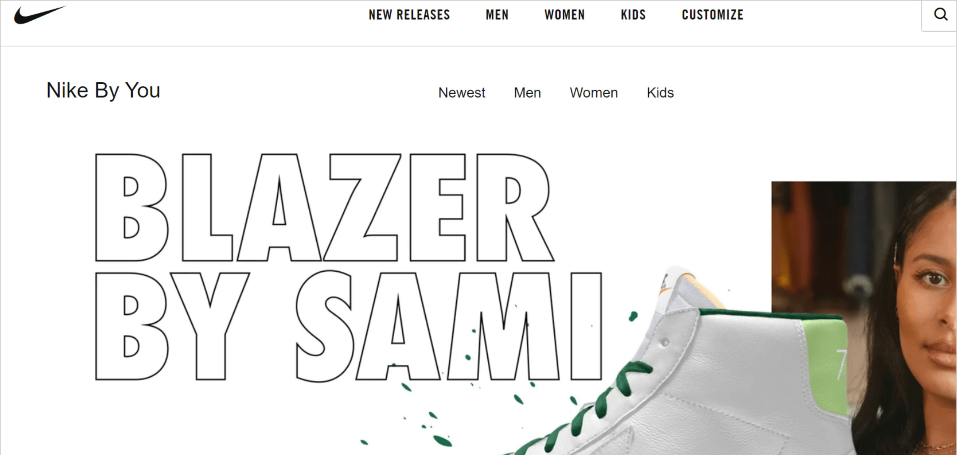 Nike Website Strong Connections