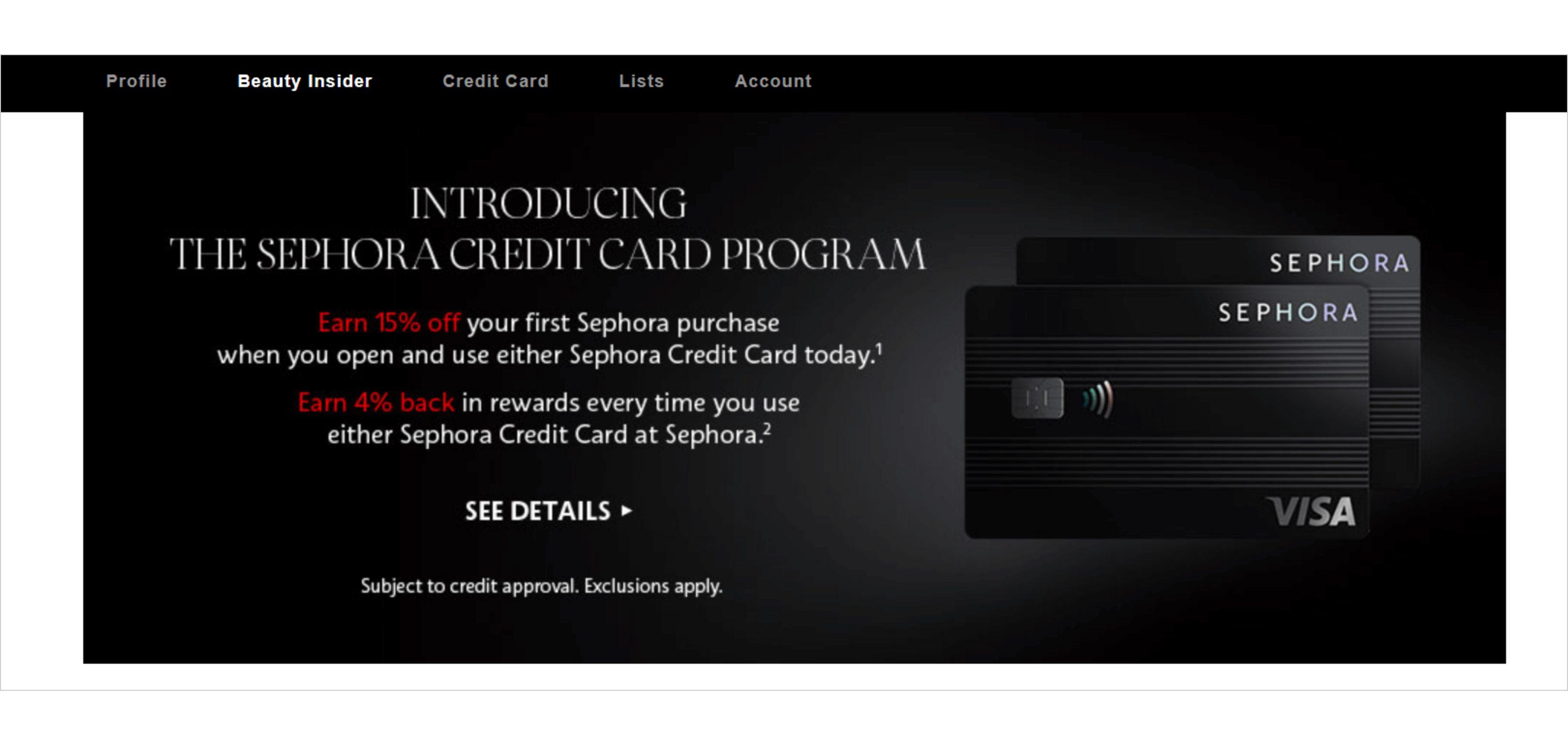 Sephora Credit Card Loyalty