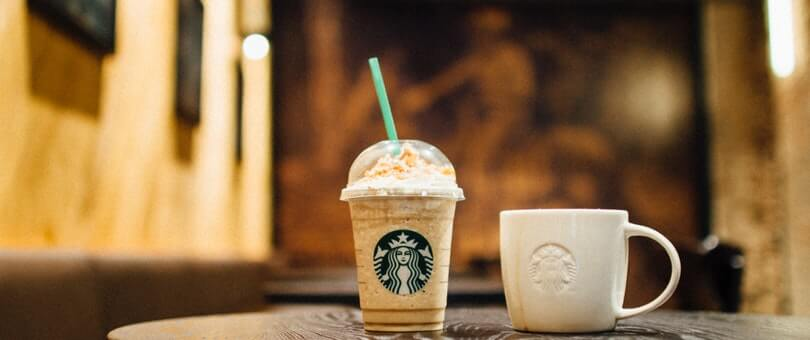 Starbucks cup close up
