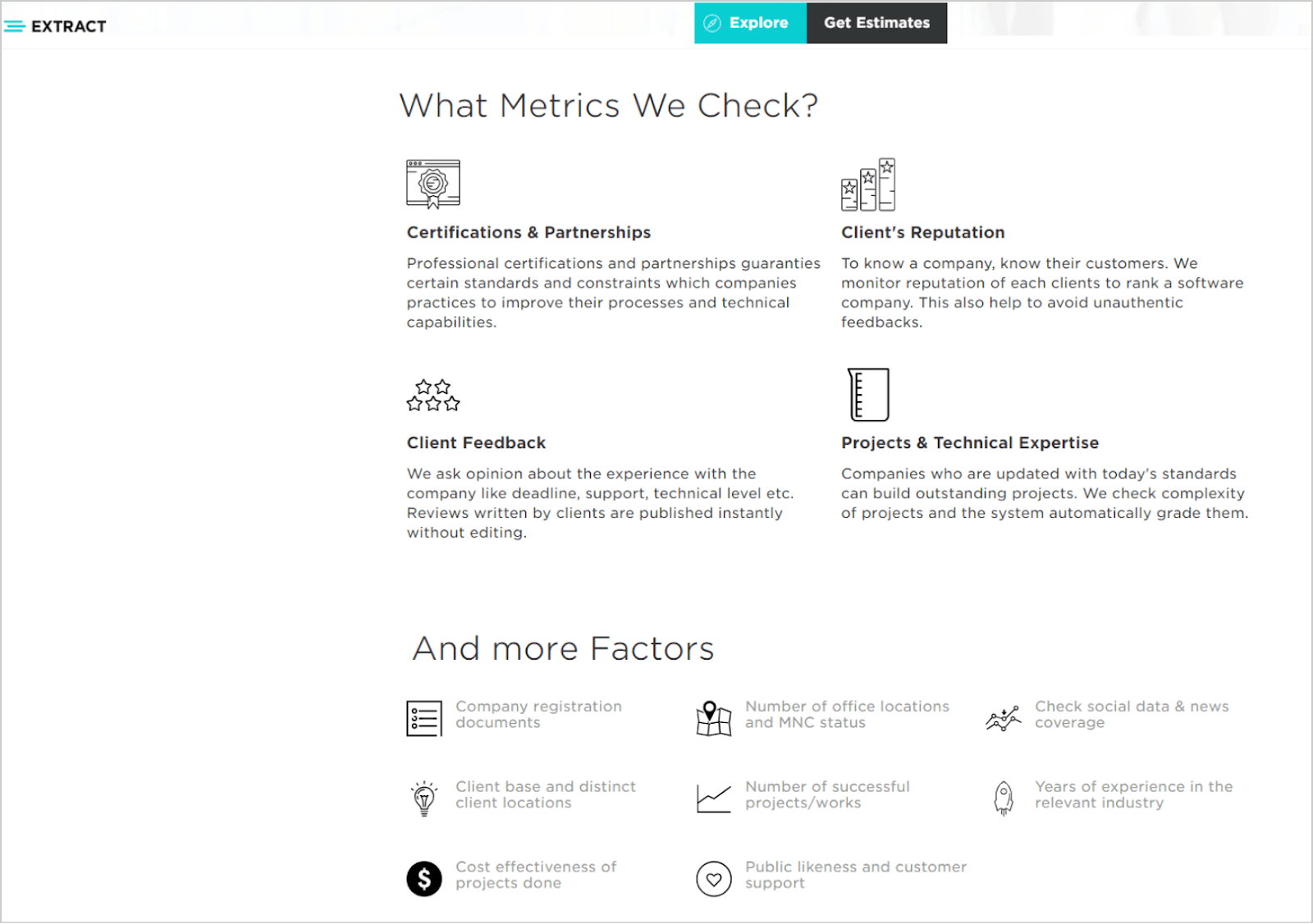 Extract - what metrics we check?