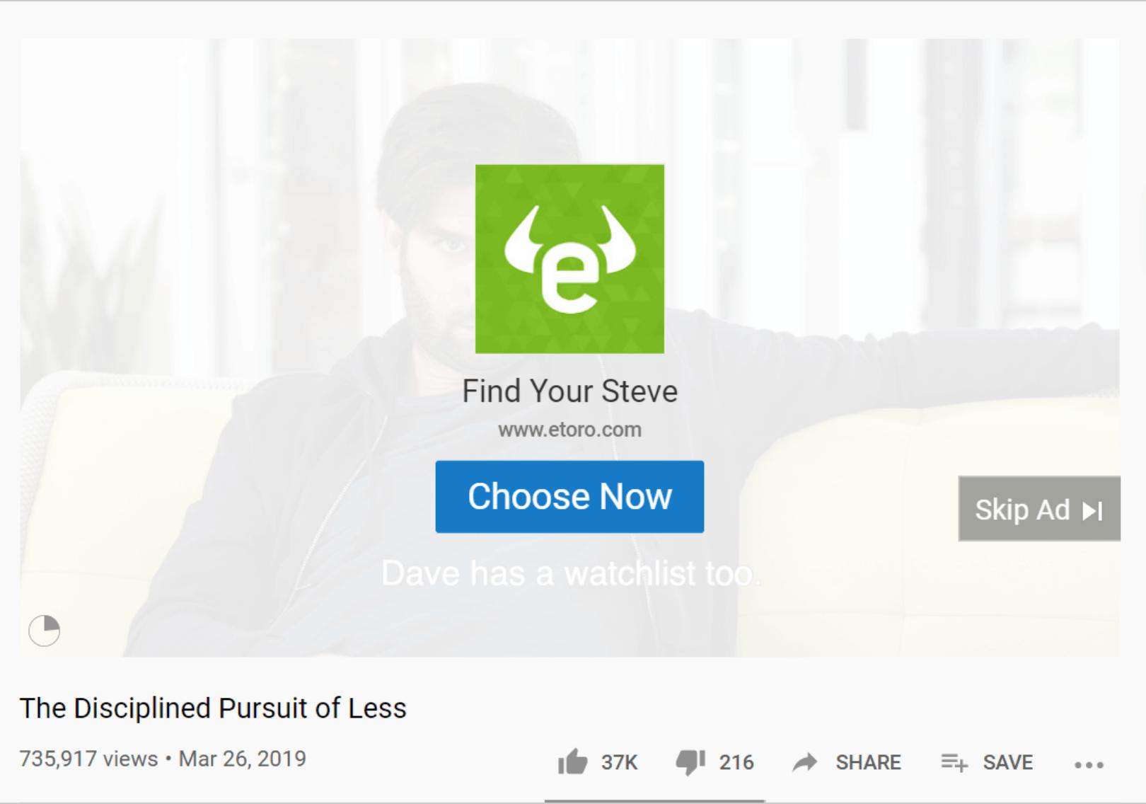Etoro Facebook Video Ad