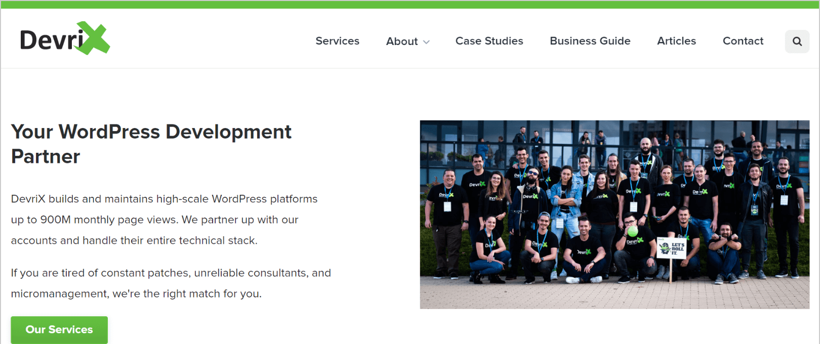 DevriX homepage