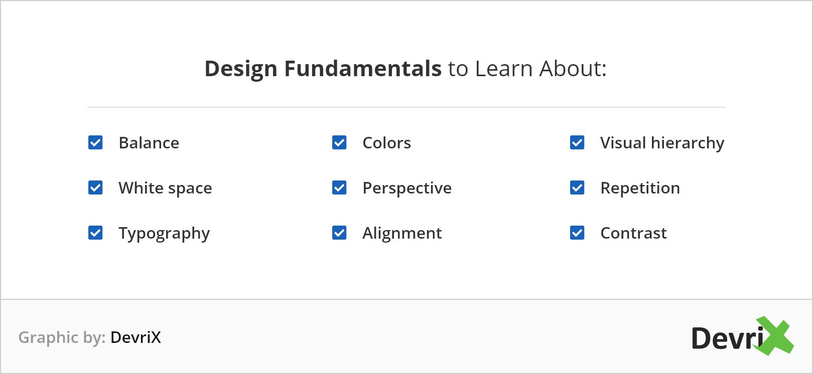 design fundamentals to learn