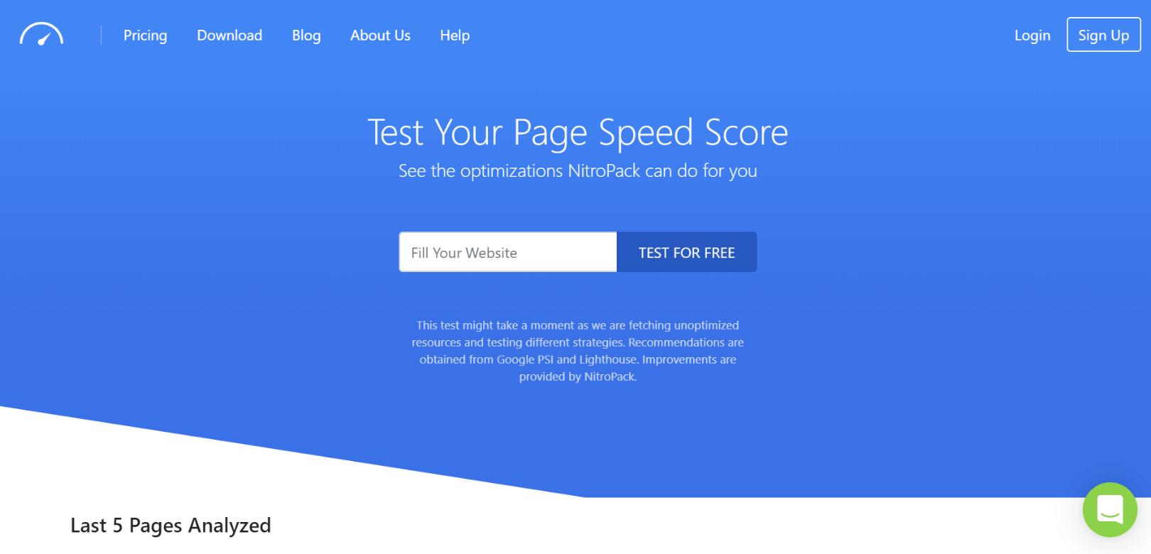 nitropack homepage