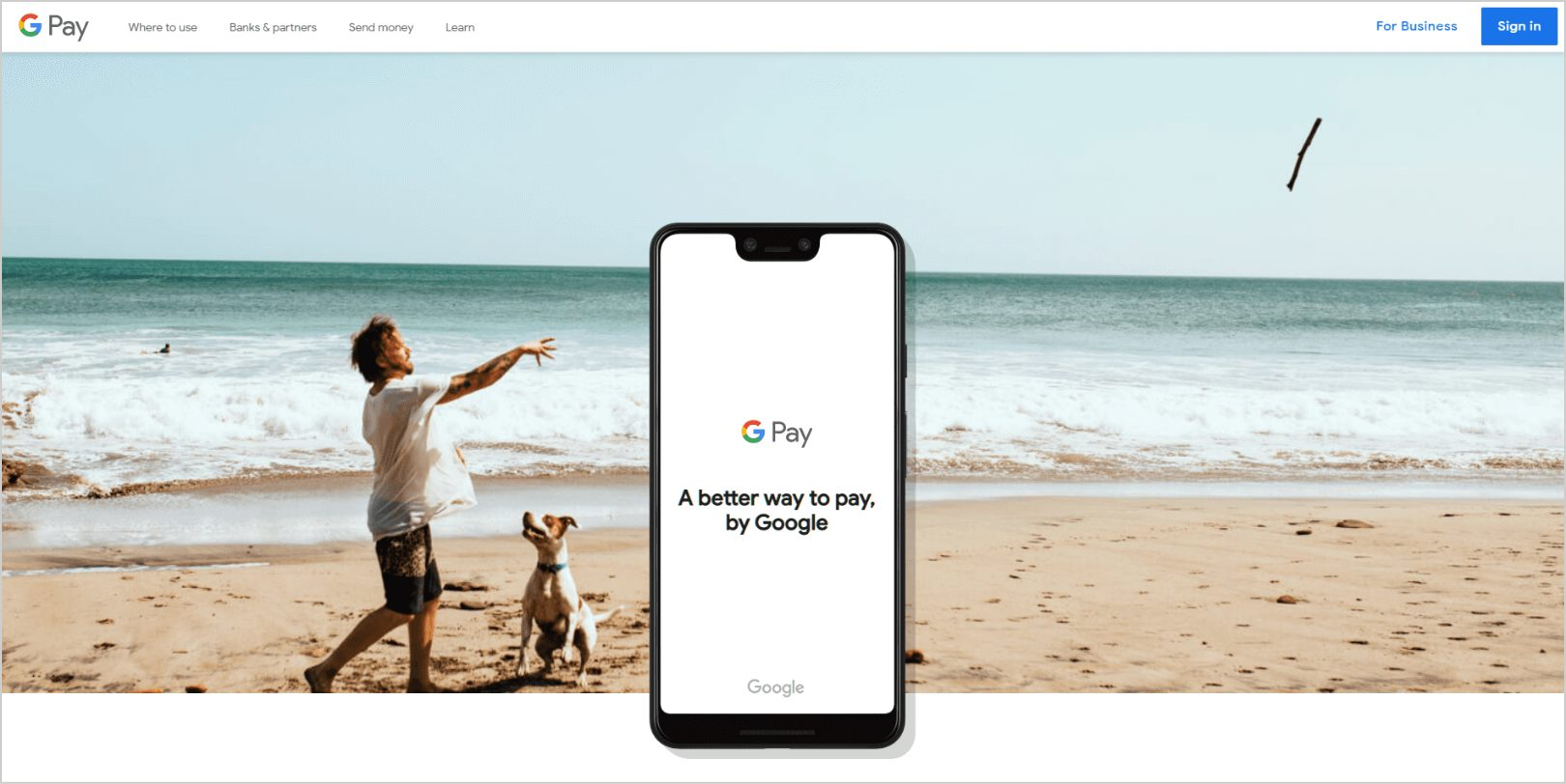 Android Pay page