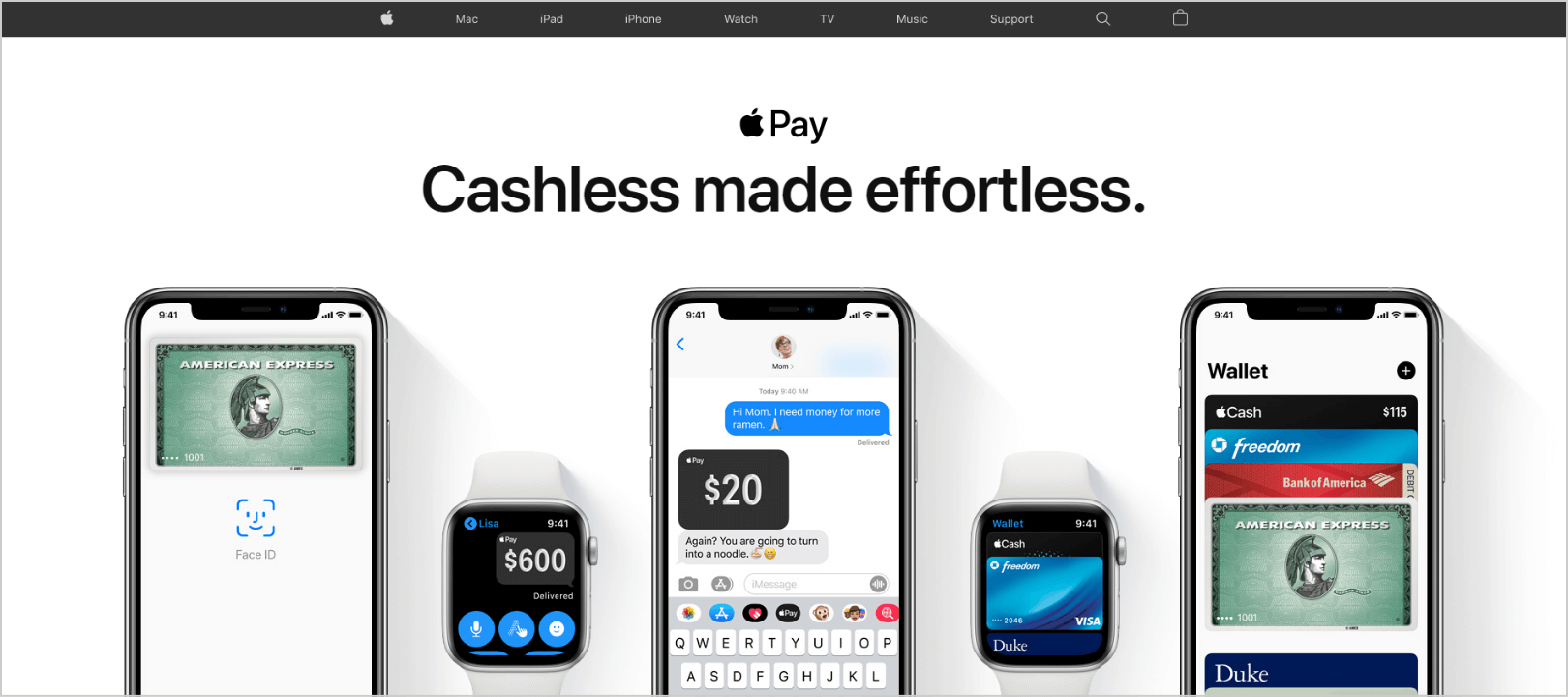 Apple Pay home page