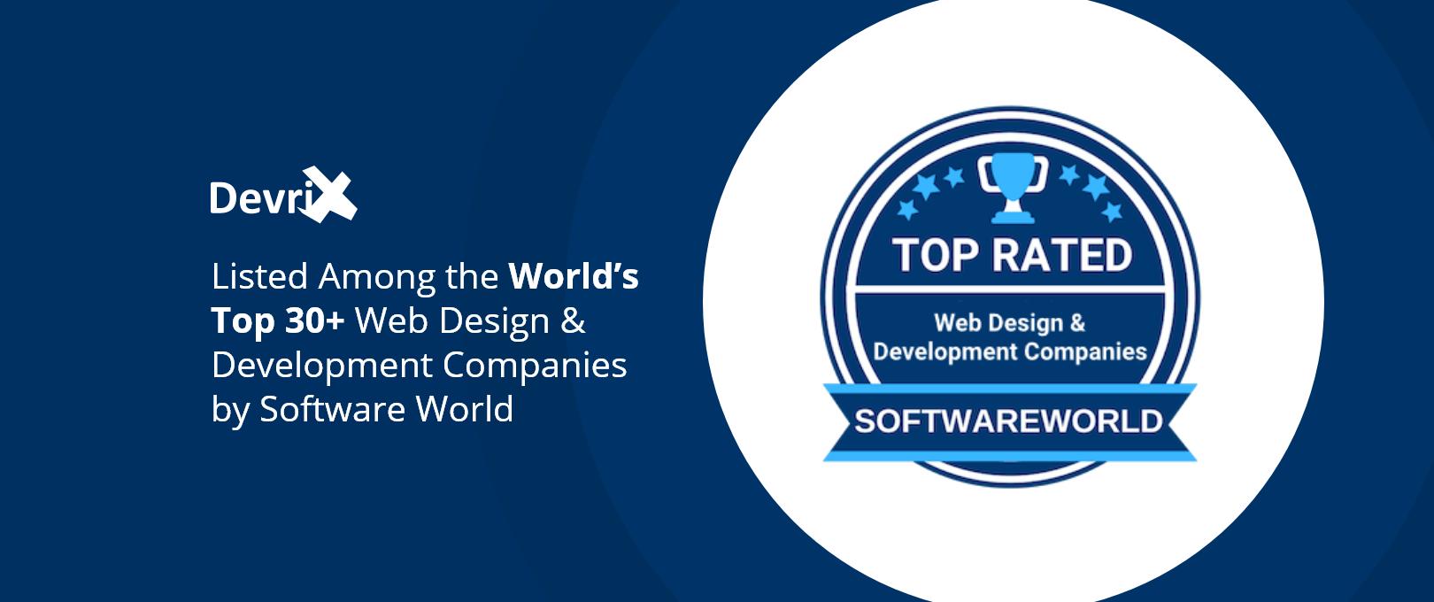 DevriX on World's-Top 30-Web-Design-&-Development-Companies