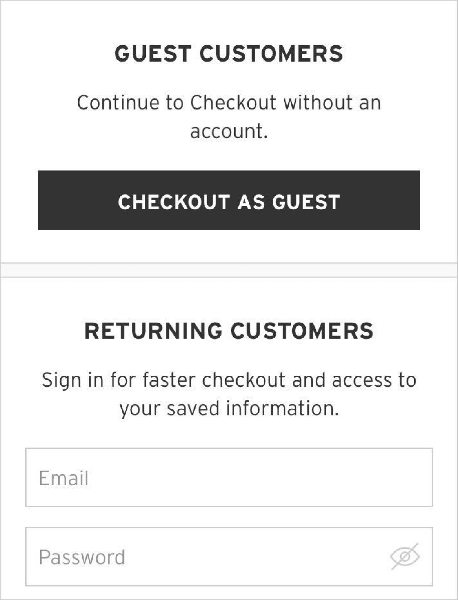 Speed up the Checkout Process by Offering Guest Checkout