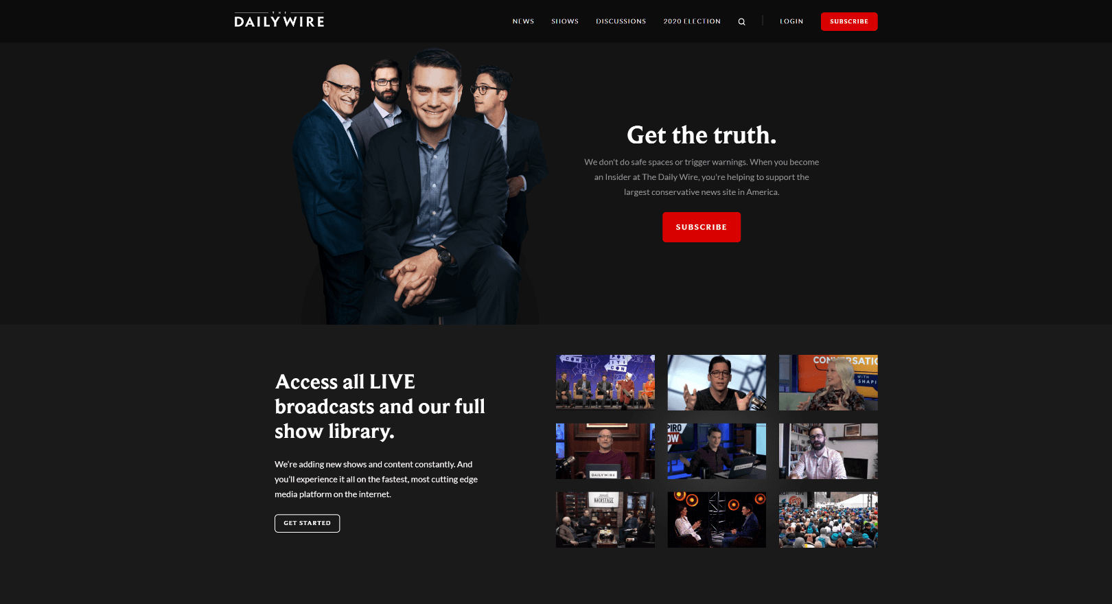 The-Daily-Wire-home-page